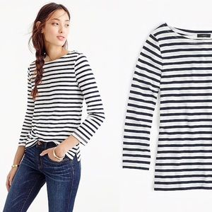 J. Crew retail striped boatneck shirt